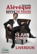 Christophe Alévêque le 15 juin au Centre Bianchi